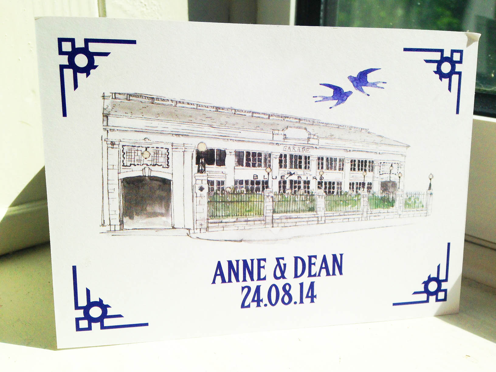 Bluebird Chelsea Wedding Invite