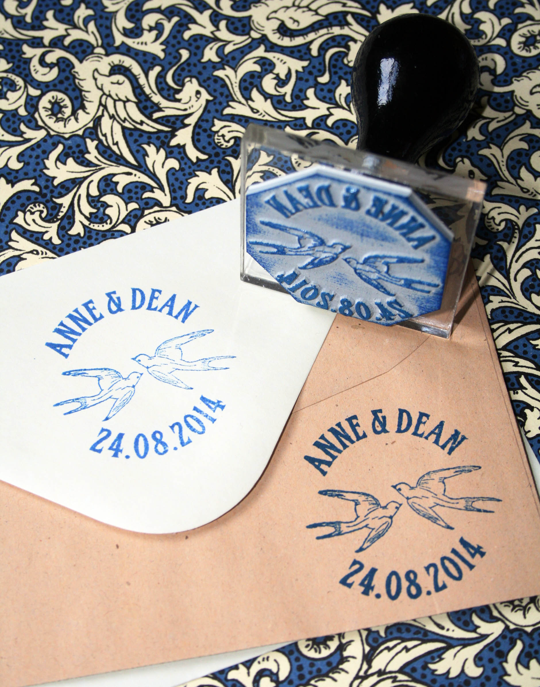 Bluebird Wedding Stamp