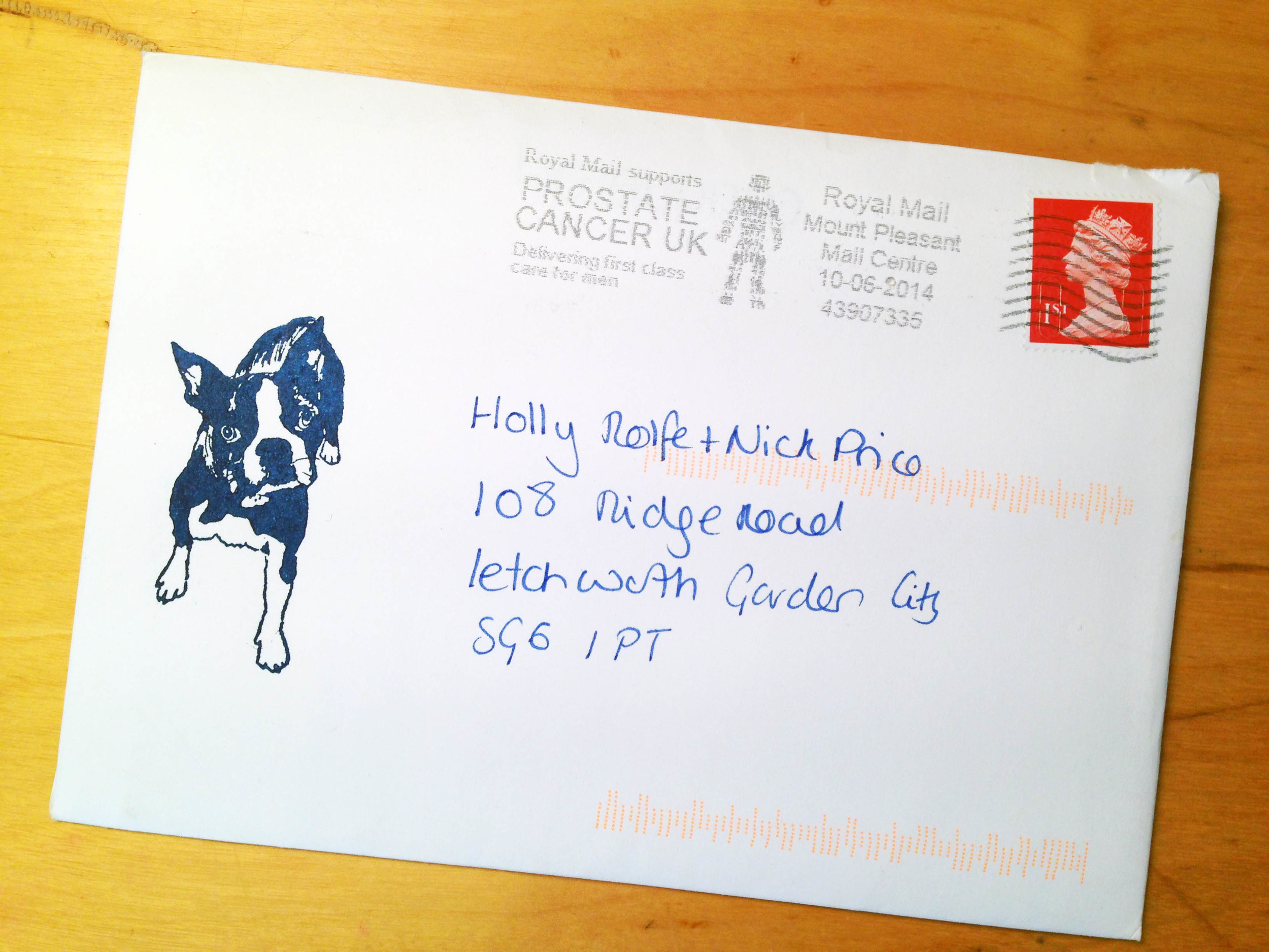 Personalised dog stamp