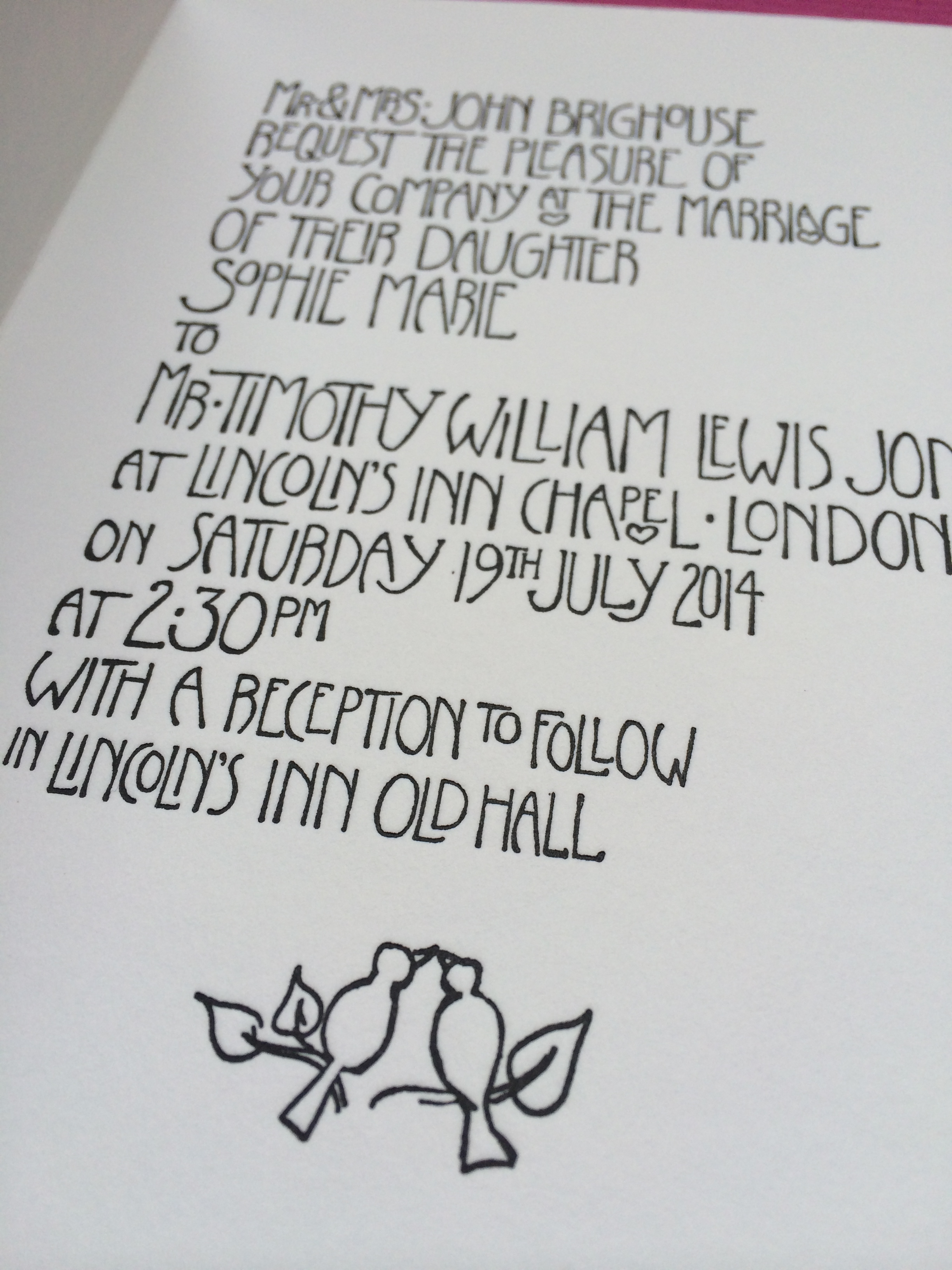 Text inside the main invite