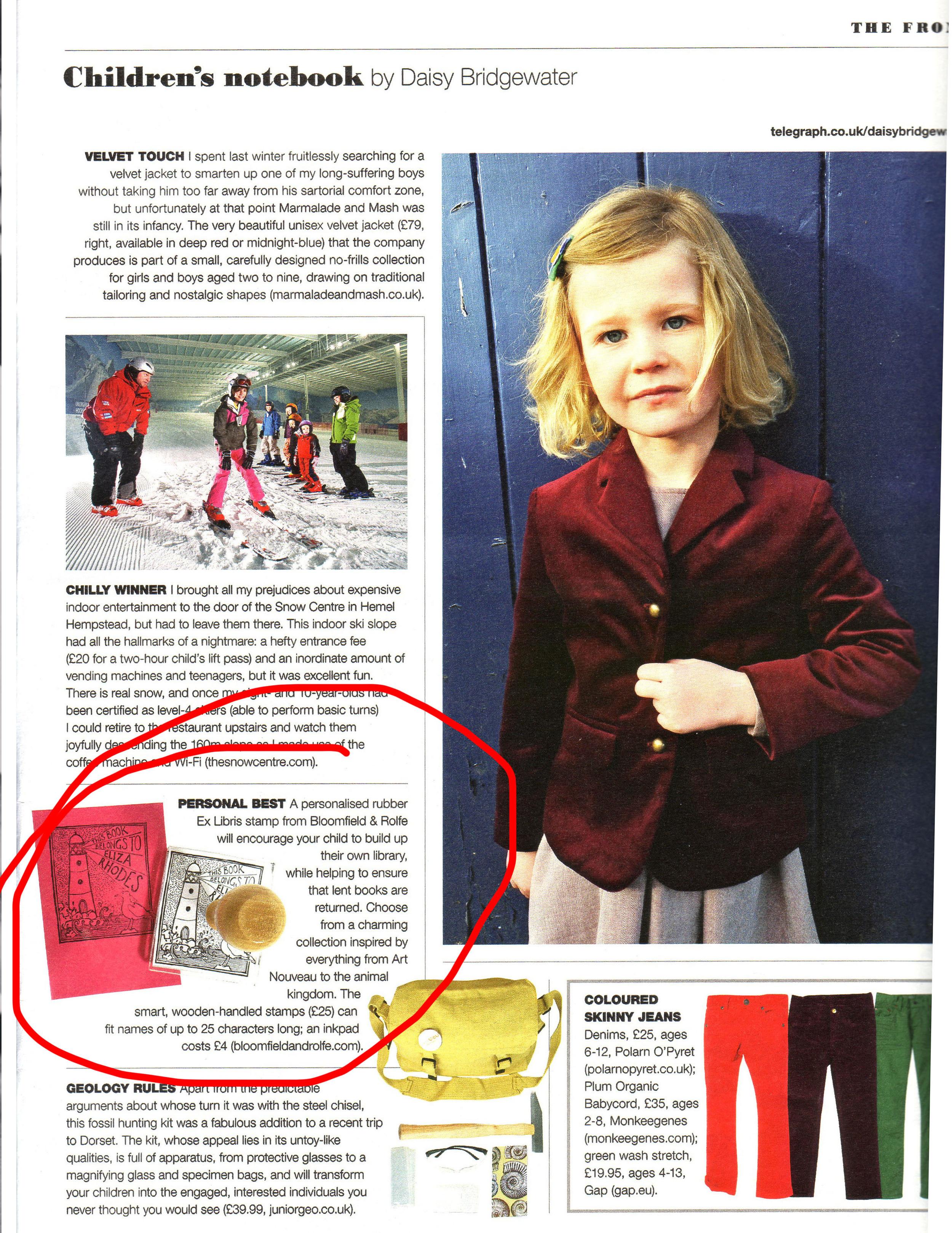 Telegraph Magazine - 13/10/12