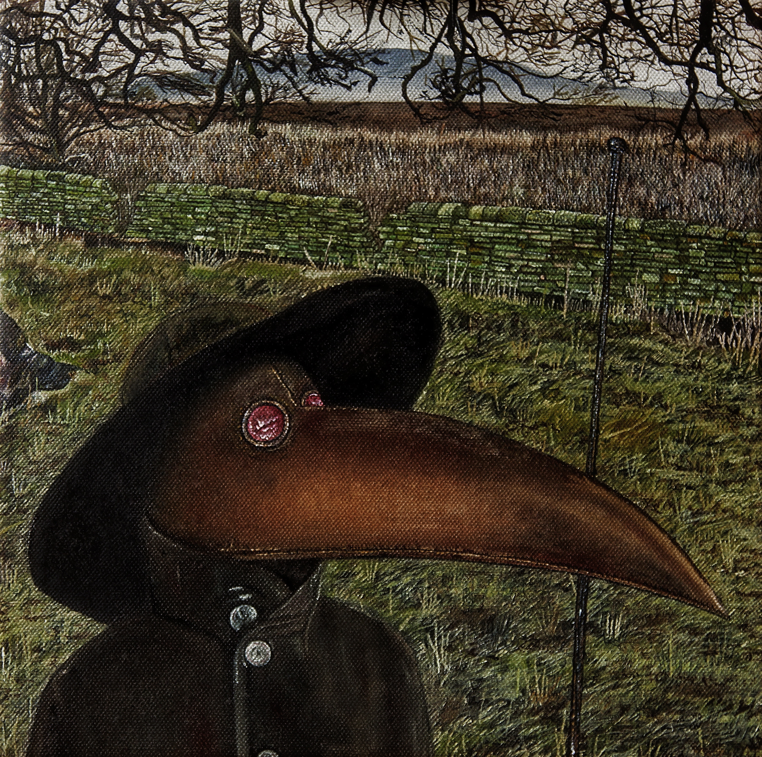 Plague Doctor. Oil on canvas. 12 x 12 inches