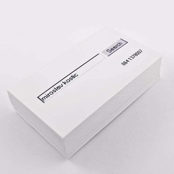 Miroslav Kostic  Bussines Card