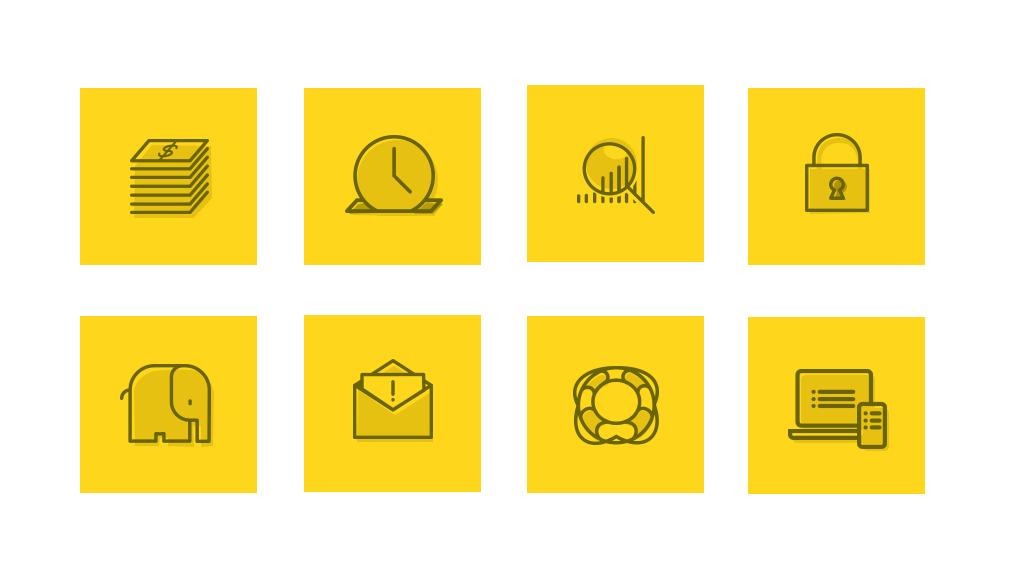 eCrypton features icon set