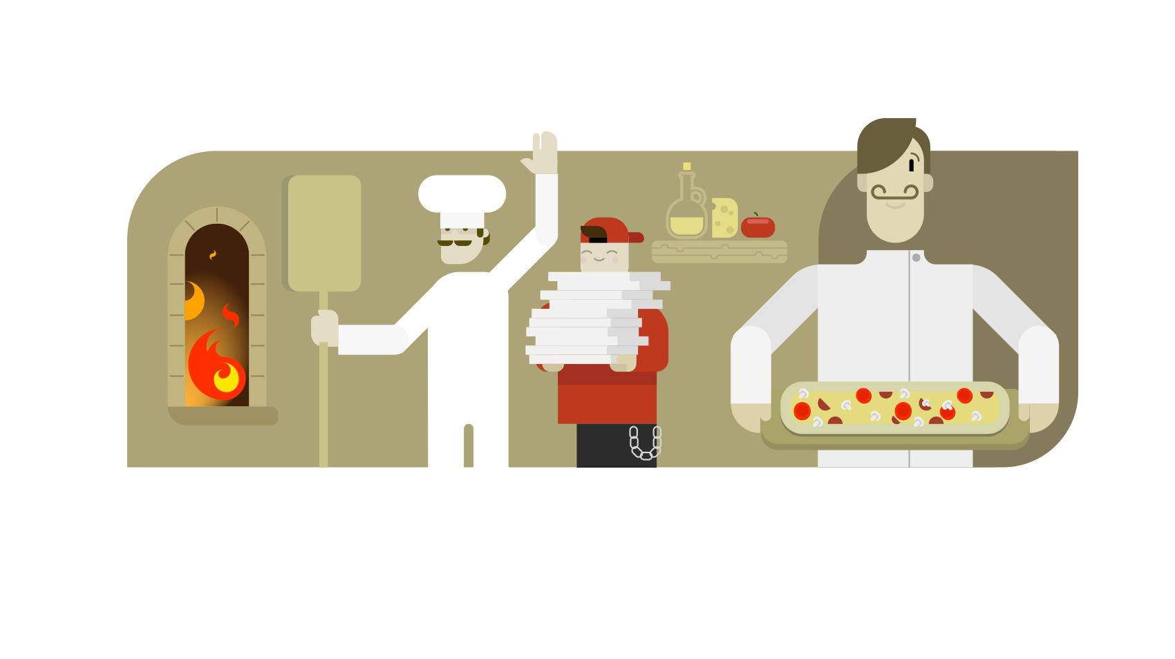 VivifyScrum EDU Pizza Place Illustration