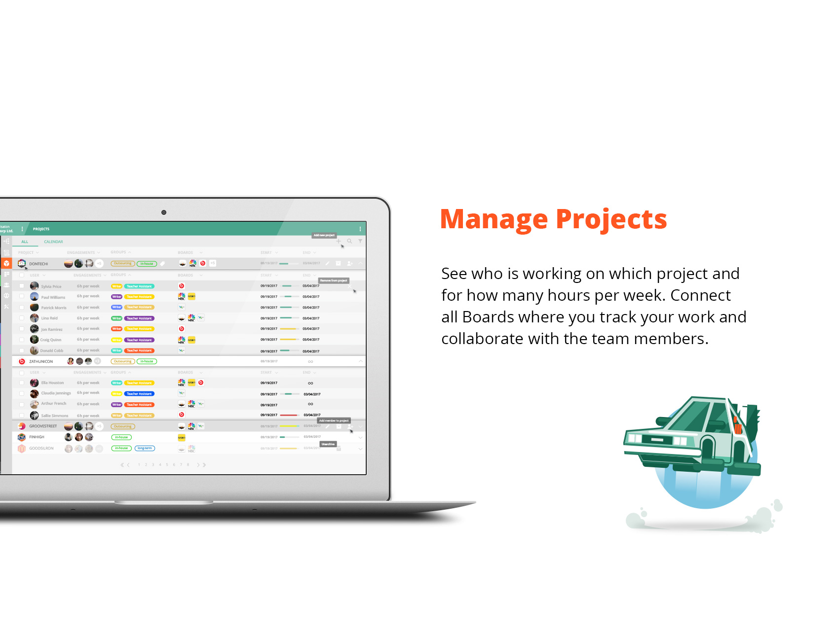 VivifyScrum app manage projects