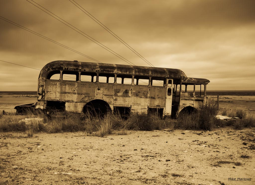 Abandoned bus in Argentina