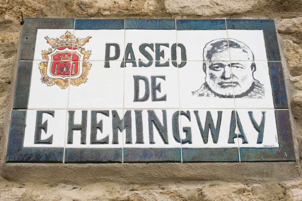 Ernest Hemingway sign