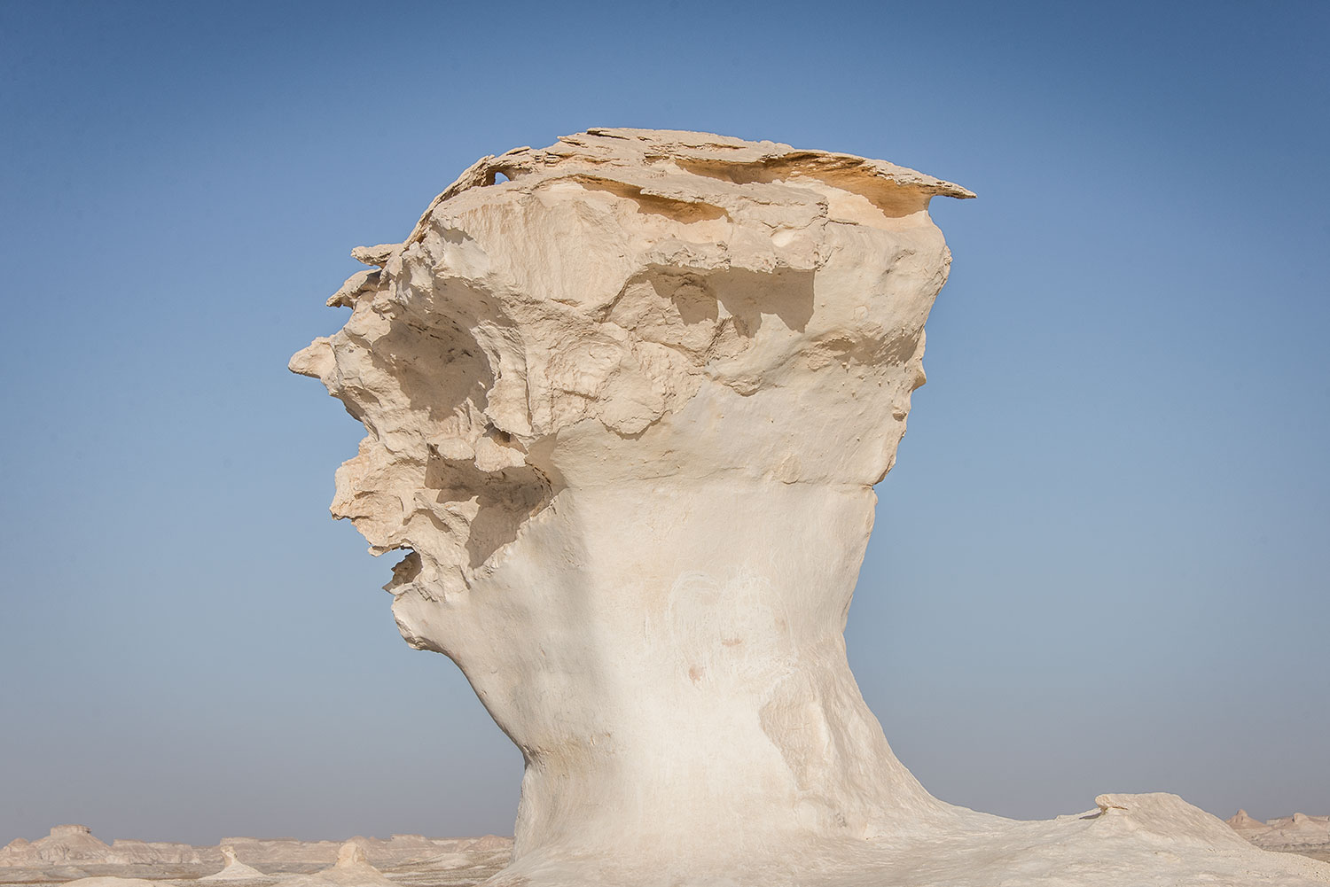 The bizarre rock formation that looks like a human head!