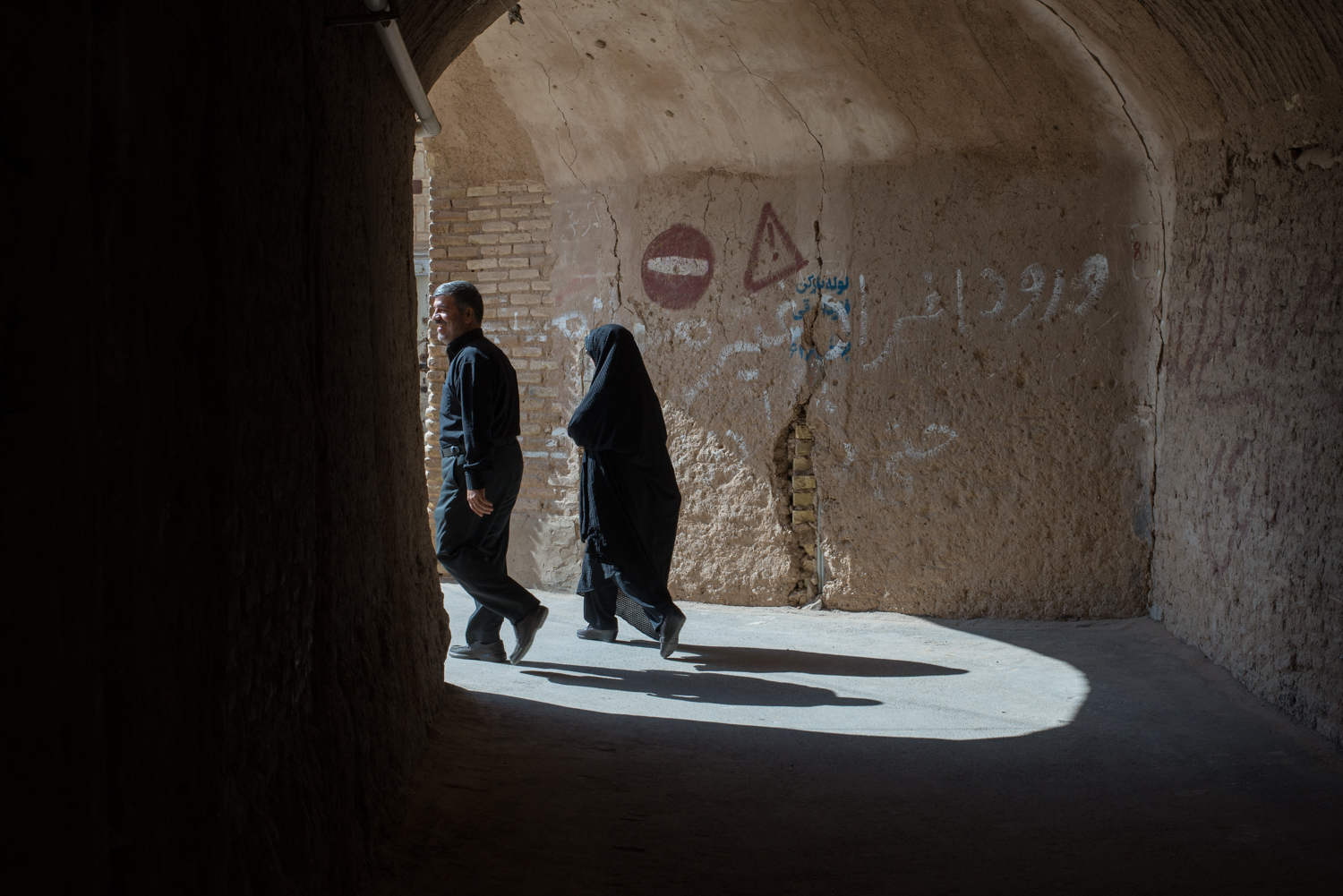 Wandering the alleys and passage ways of Yazd.