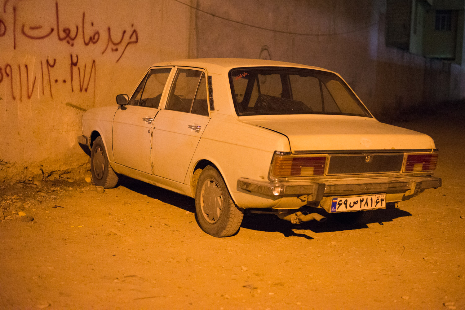 The ubiquitous car of post 1979 Iran. The ex Hillman Hunter from the UK was manufactured in huge numbers near Teheran and they are still widely seen all over the country.