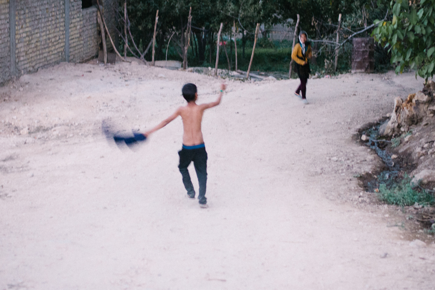 Qashqai children playing.
