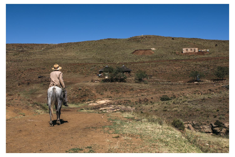 Man On Horse - Lesotho 2007