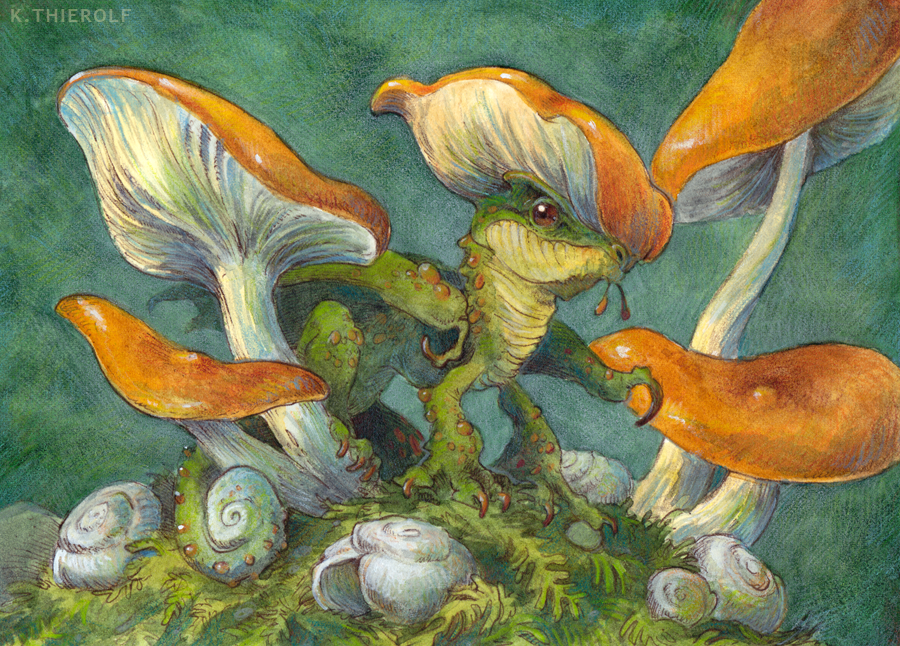Mushroom Dragon with Shells
