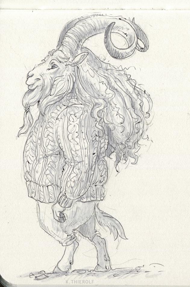 Lighthouse-keeper Goat