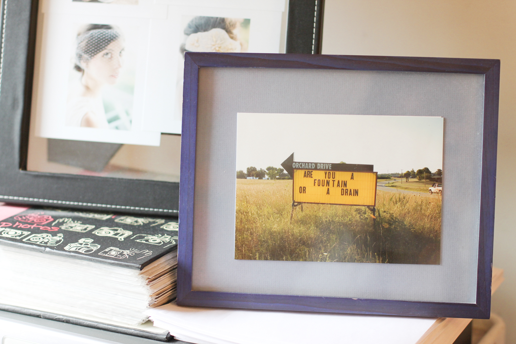 A photo my dad took, always a good reminder. (and there are images in the back from my 2012 shoot with  Jen Huang !)