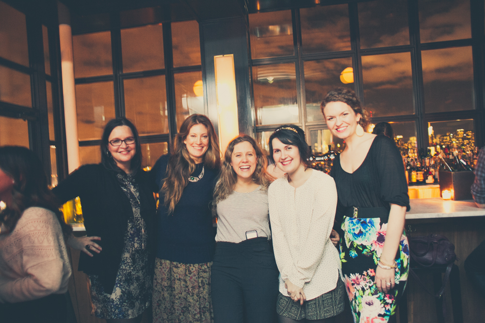 Right to left:  Rebecca of   Schone Design  , me,       Tory Williams  ,   Jessa of  Blades Natural Beauty , Sara of  Sara Wight Photo .