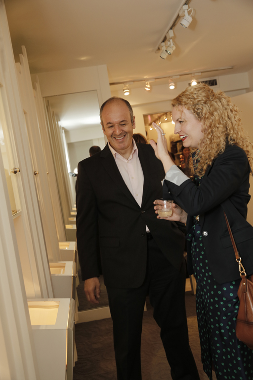 Andrew, co-owner of Reinstein Ross showing  Rebecca  some lovely pieces!