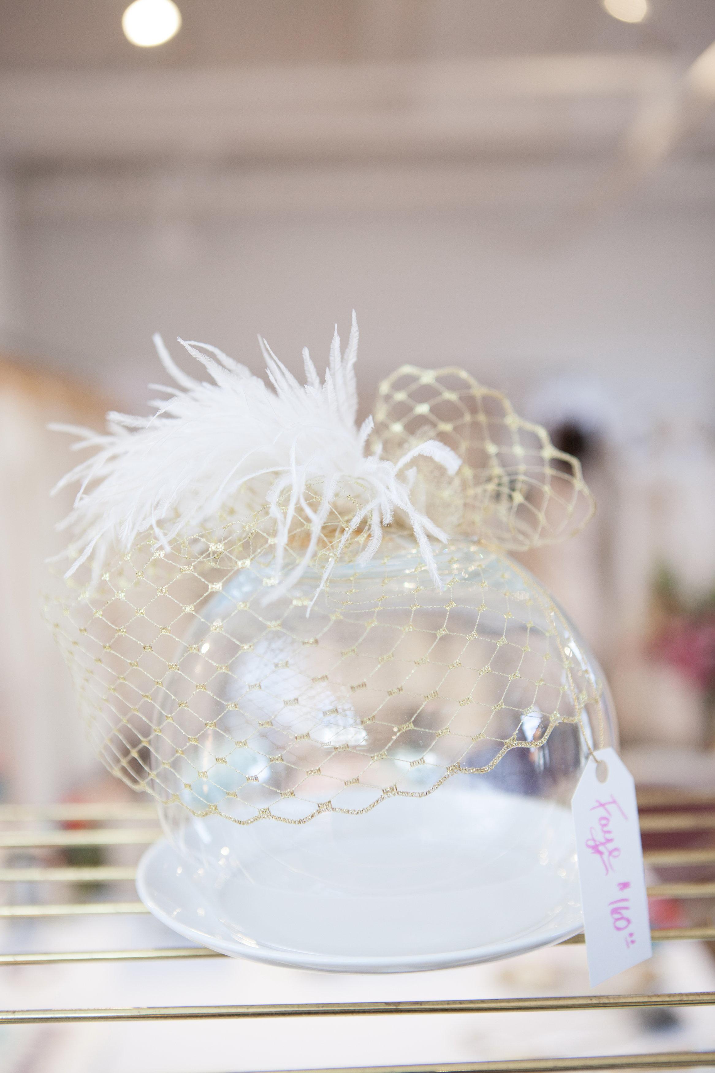 The  Faye  birdcage veil.