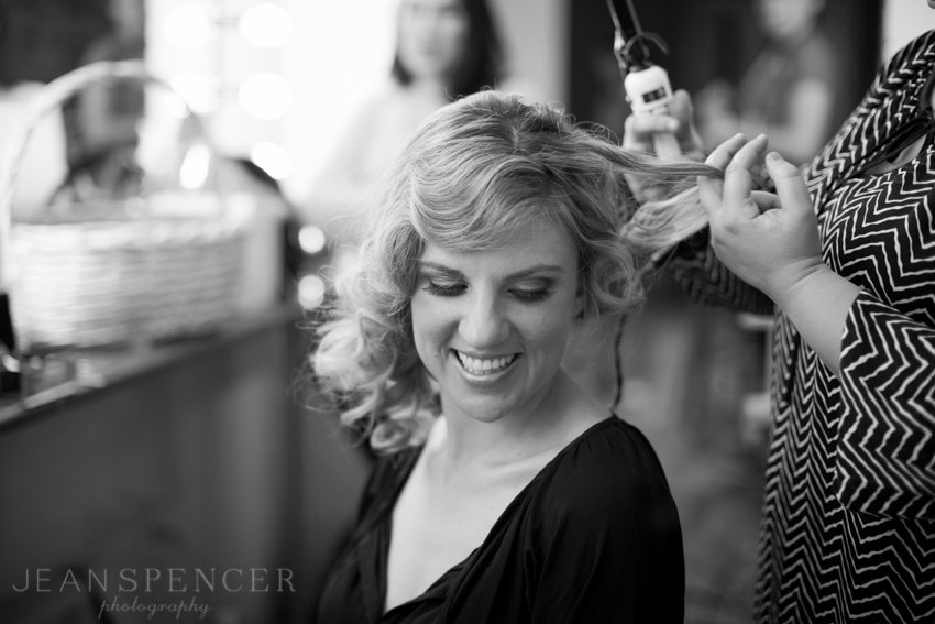 Natasha, our bride, getting her hair done!