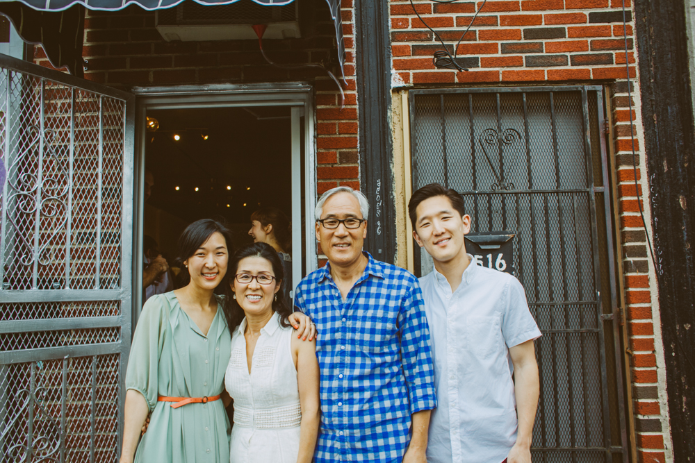 So glad Patricia could make it to the opening (my co-planner for Entwined as well as the owner of  Fourteen Forty ). So fortuitous that her parents were in town too!