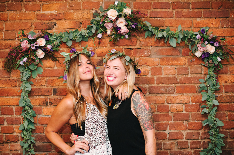 Ashley and Courtney wearing those flower crowns so well!