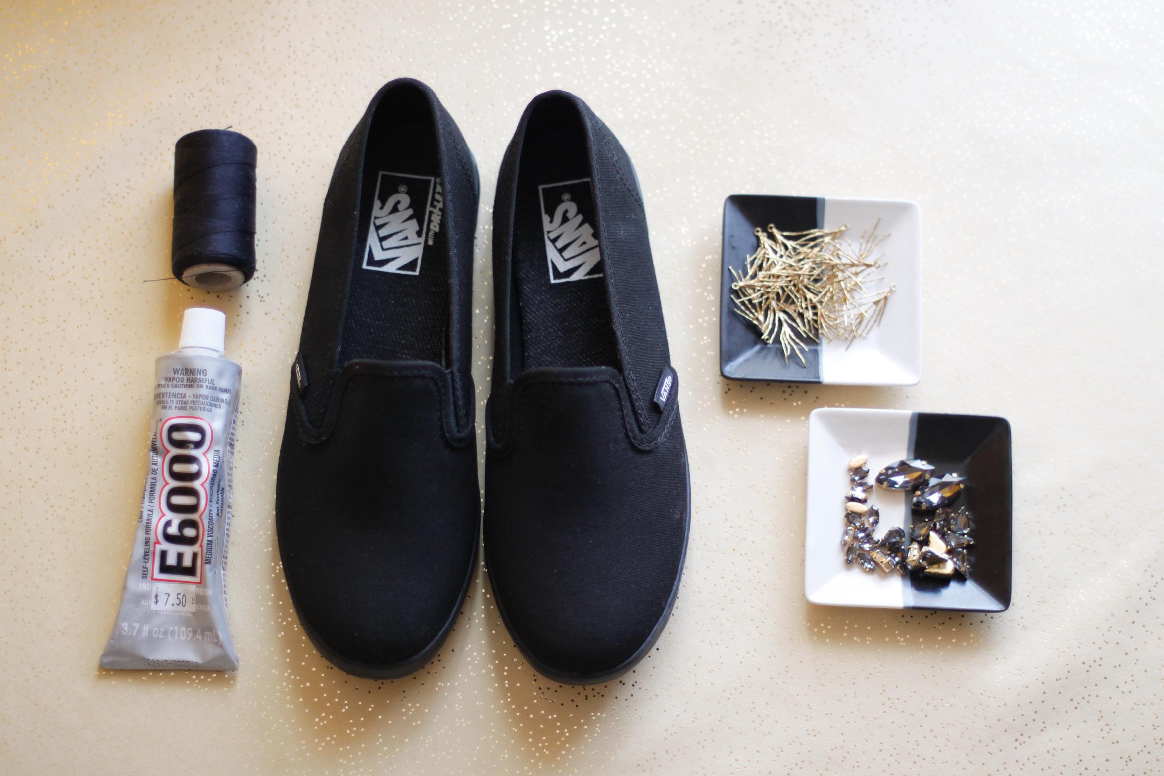 DIY sneakers supplies