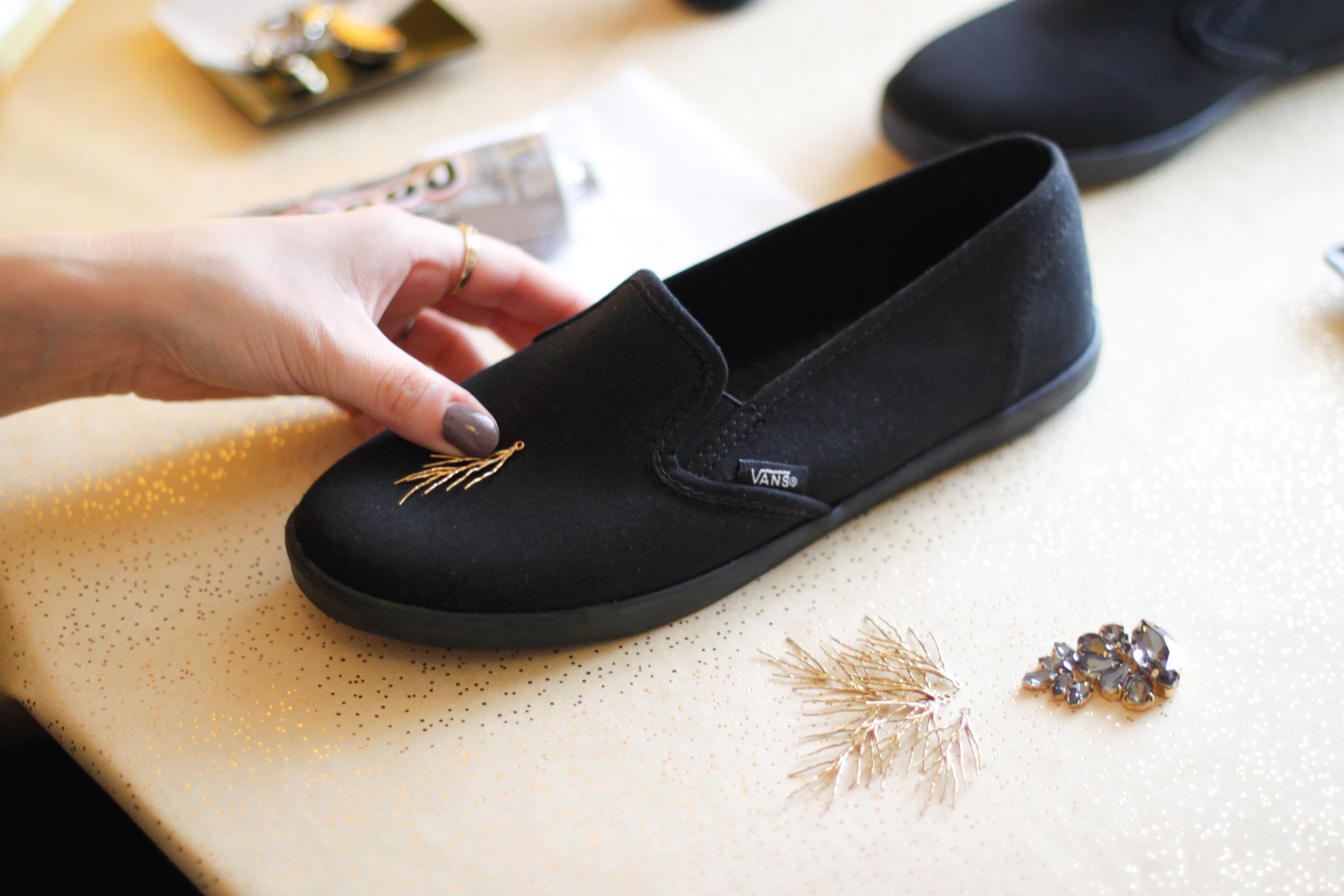 DIY sneakers step 1