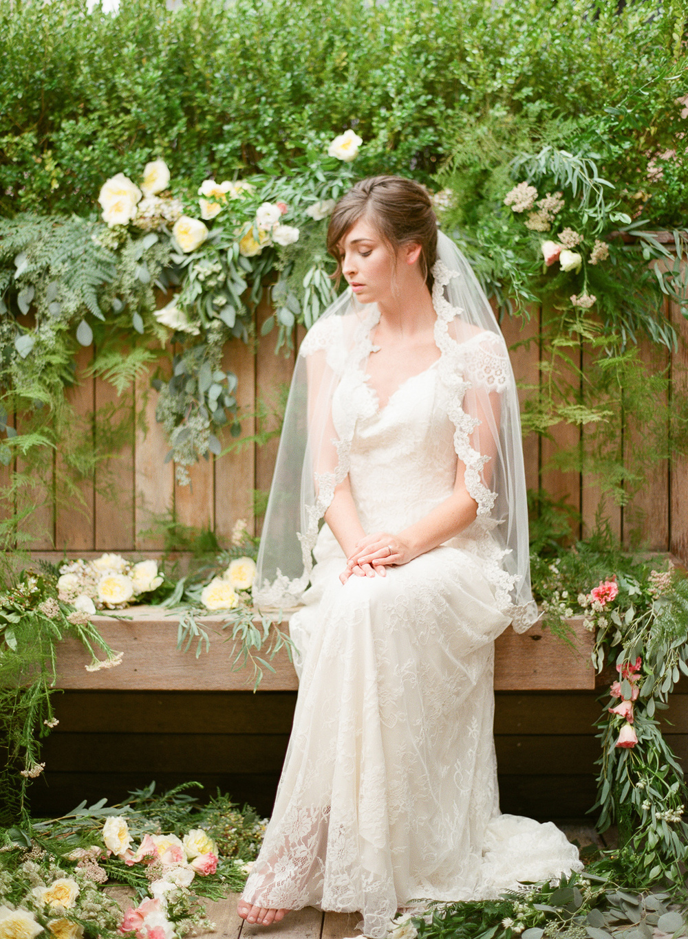 edge detail veil with silver embroidery by hushed commotion