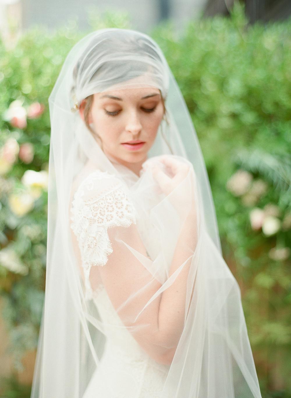 juliet cap tulle veil with gold vine flower crystal detail hushed commotion