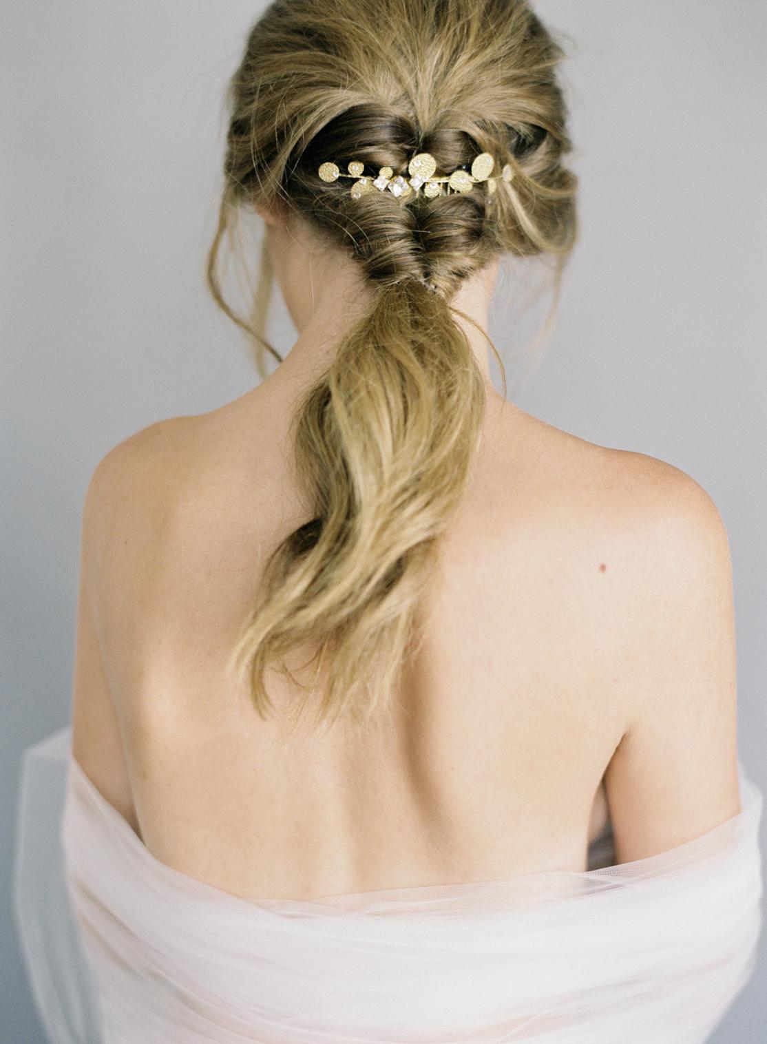Hushed Commotion, Jen Huang 2017, Carson, modern gold comb, ponytail.jpg
