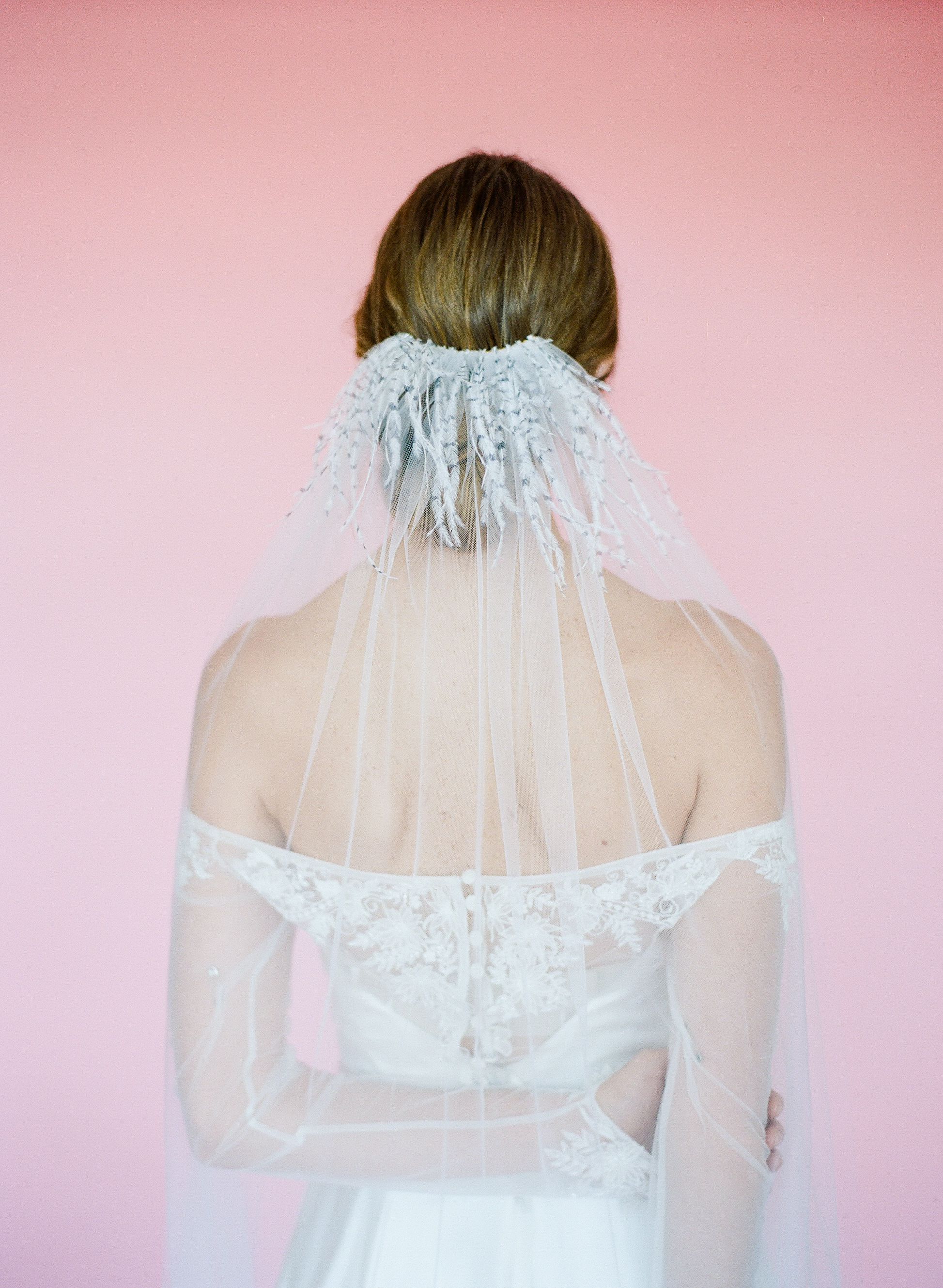Hushed Commotion 2018, Rebecca Yale, ostrich feather cathedral veil back 5, Fletcher.jpg
