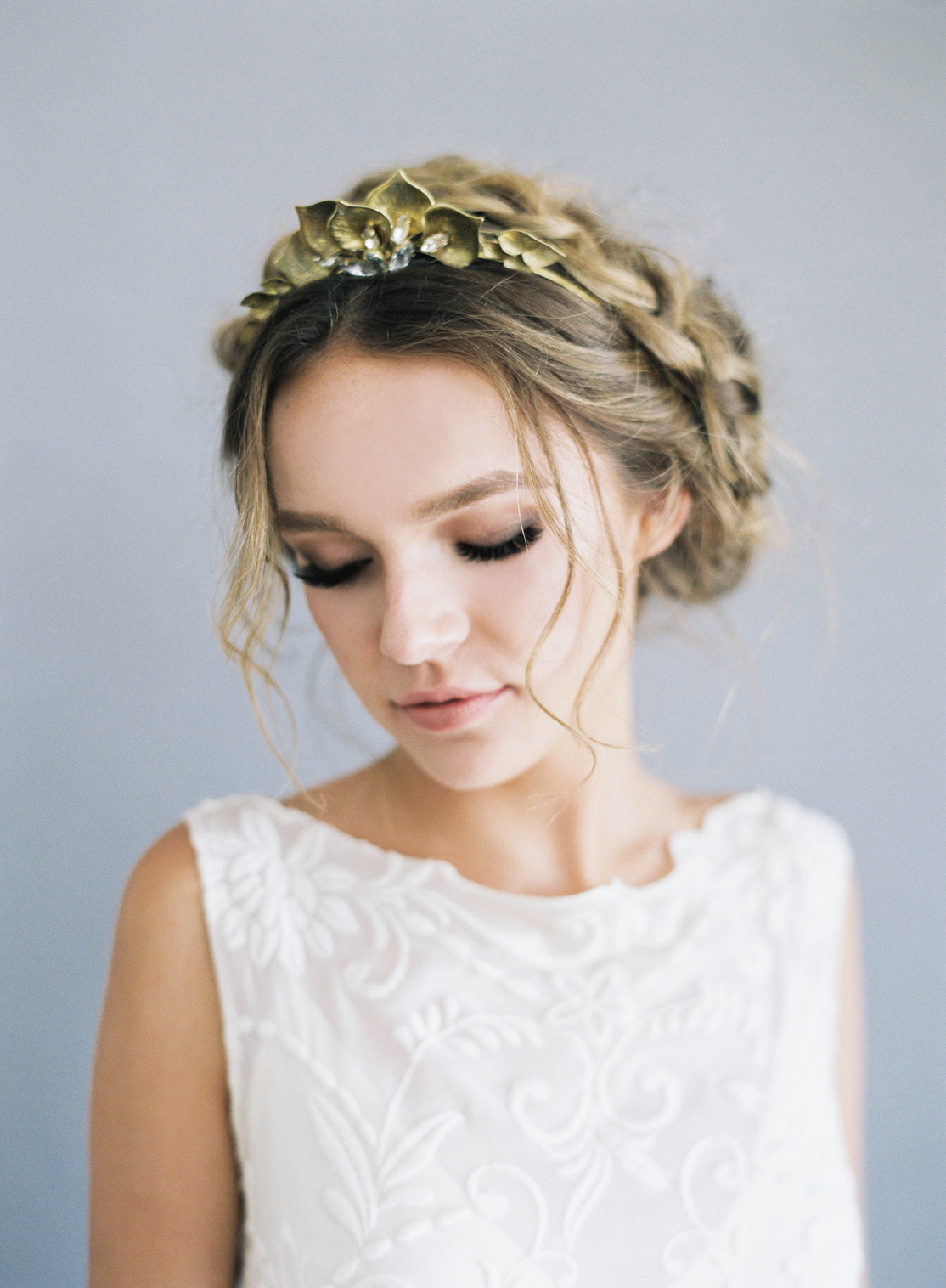 A boho inspired tiara with an herbal twist and just a bit of crystal - the Hushed Commotion   Quinn     tiara is loved by many HC brides and even better super easy to style in your wedding day hair!