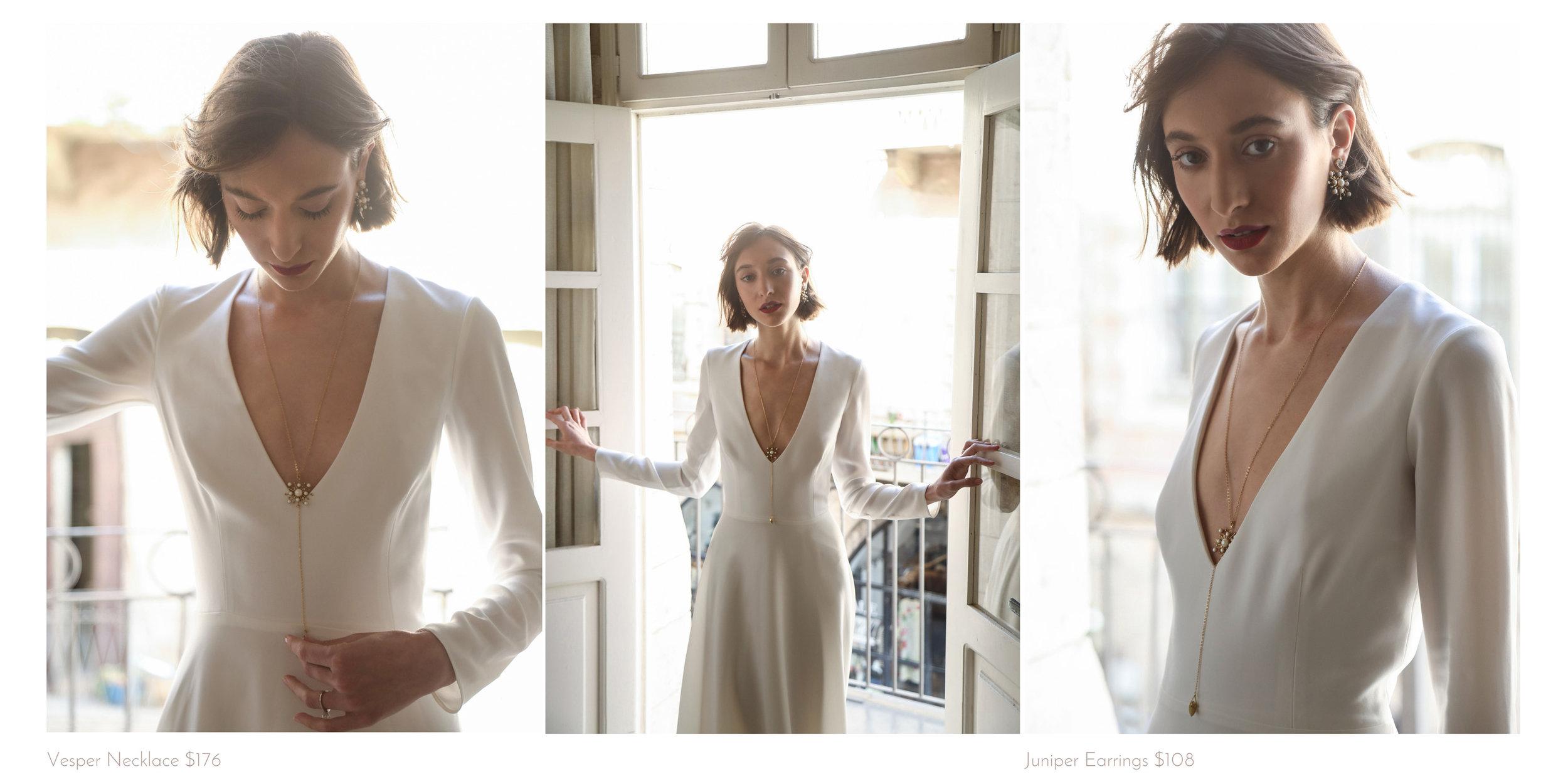 bridal necklace lookbook