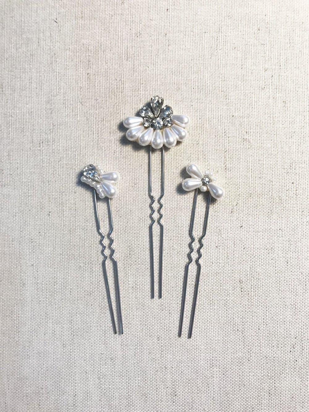 Custom Silver Hair Pins
