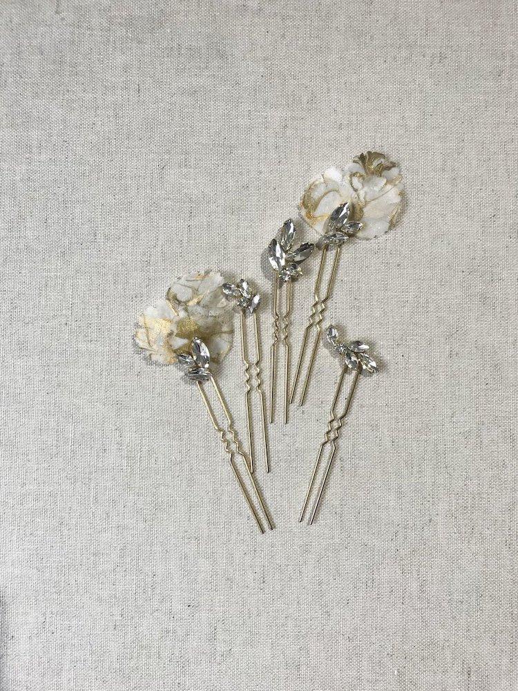 Custom Gold Hair Pin