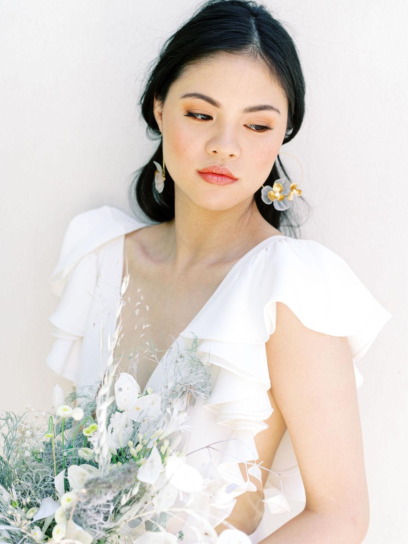 Tami bridal hoop earrings
