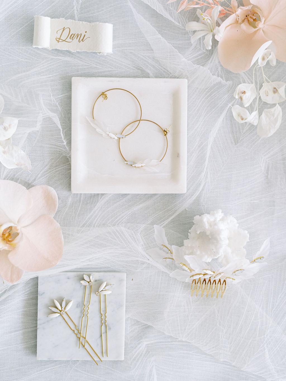 bridal hoop earrings