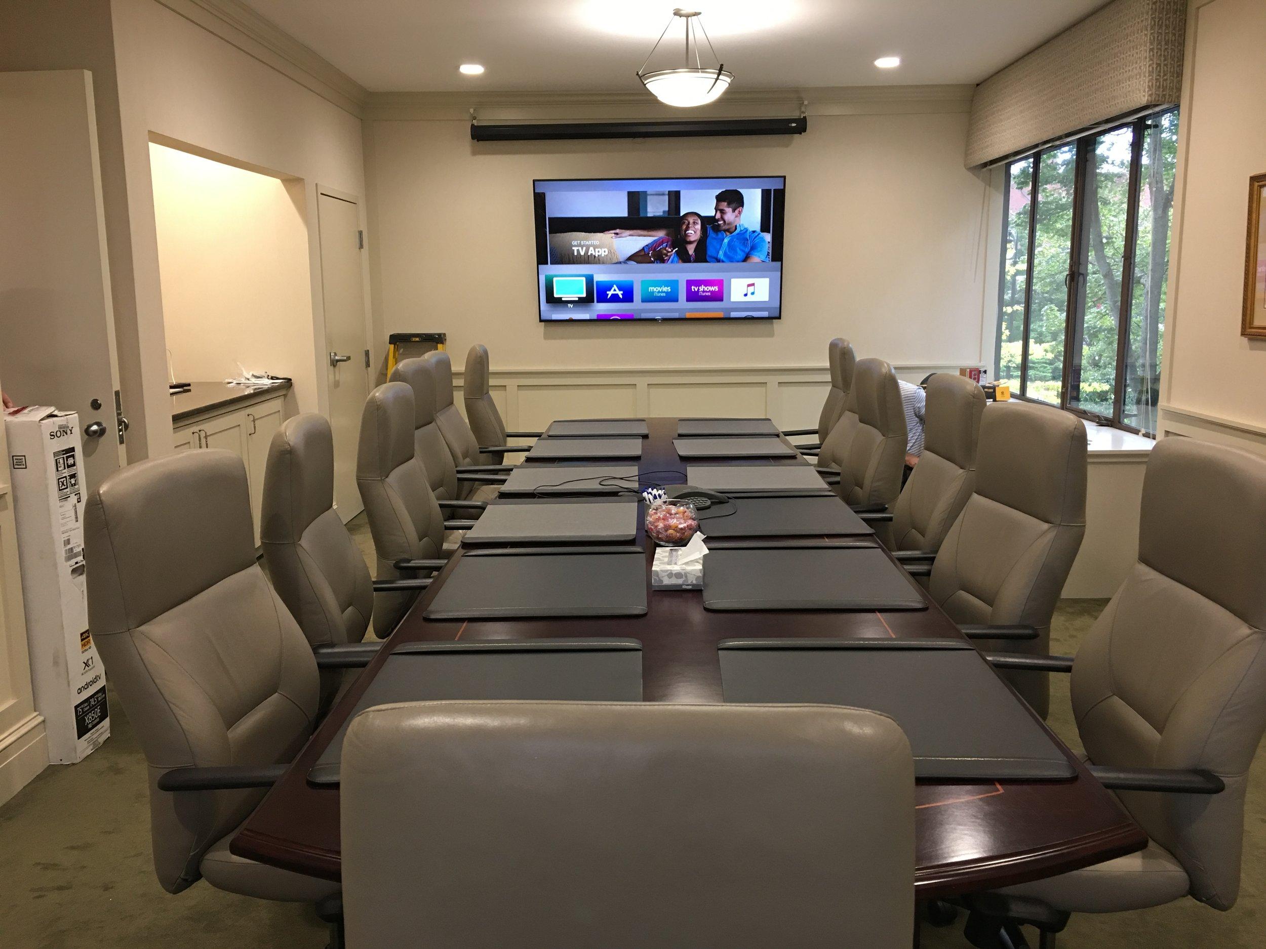 Bank Board Room Installation