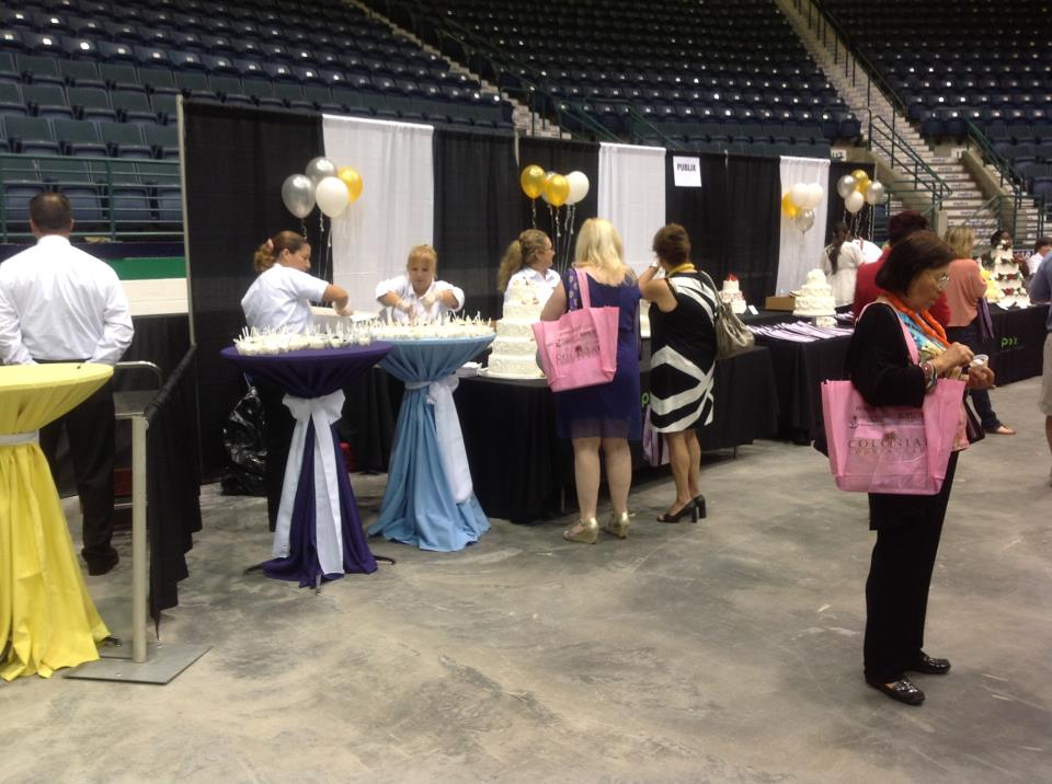 The Publix booth at the last Bridal Blast in August 2012.