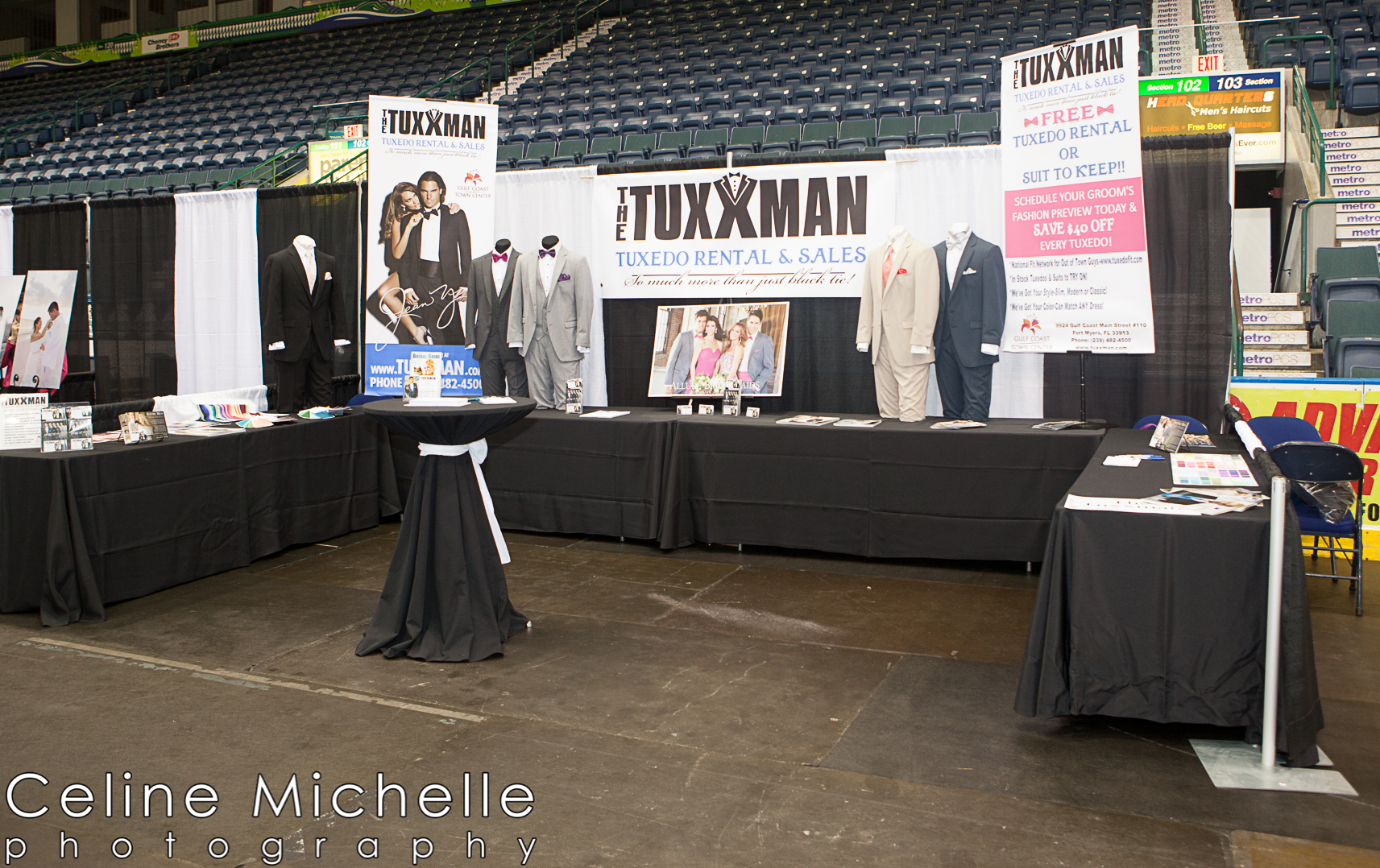 The Tuxxman booth at the Bridal Blast