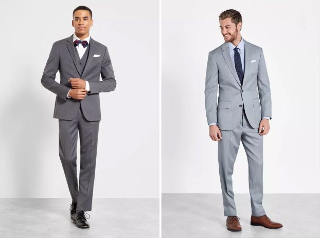 What to Rent   (from left) :  The Black Tux   The Whitman Outfit , $215;  The Thornhill Outfit , $175; both available at  TheBlackTux.com