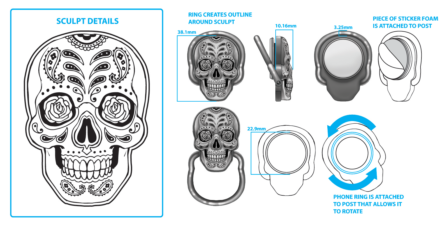 Skull Cell Phone Ring