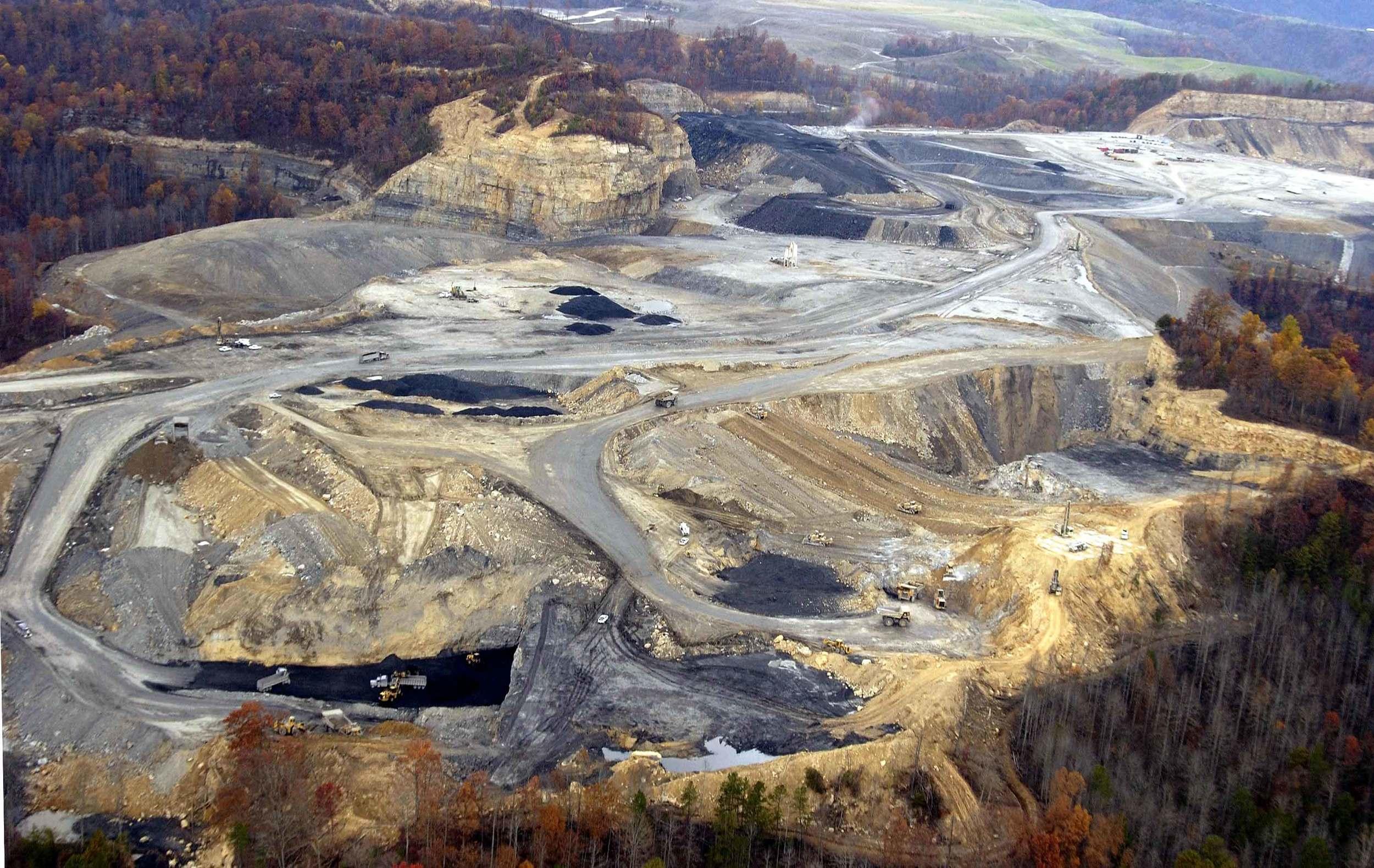 Razed Mountain near Hazard, Kentucky