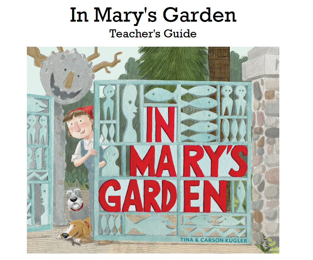 Printable teacher's guide for     In Mary's Garden