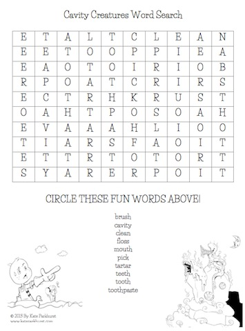 """Click here to download """"Cavity Creatures Easy Word Search"""""""