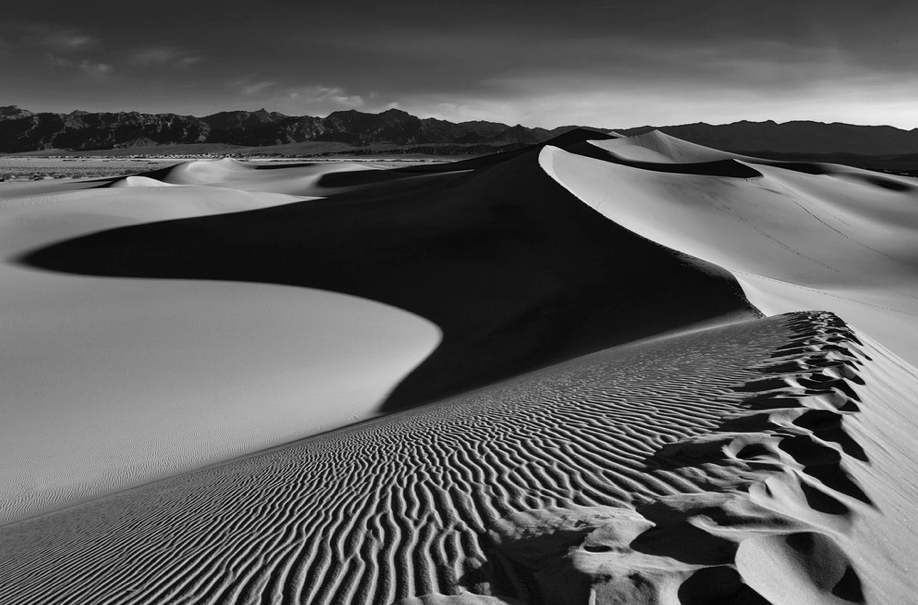 Sunrise on the dunes in Death Valley.