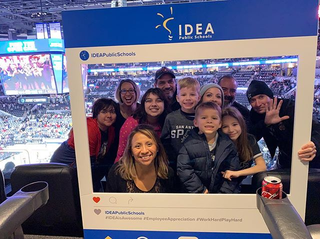 Had a great night at the spurs game last night with some IDEA Public Schools superstars. #ideapublicschools #gospursgo