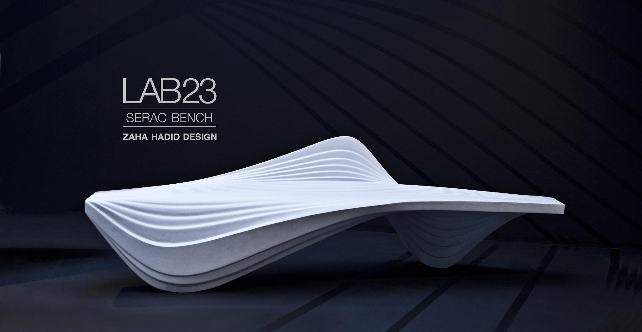 Serac bench for LAB23 by Zaha Hadid Design