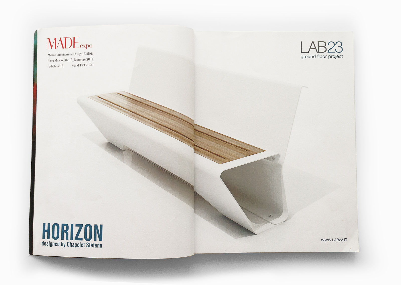 HoriZon bench by Stephane Chapelet